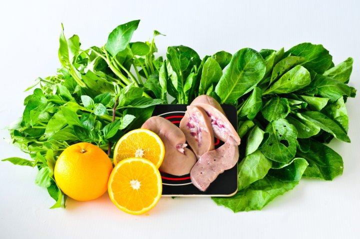 Alimentos con elevado contenido en acido folico