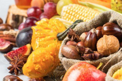 Los alimentos del otoño y el invierno: frutos, vegetales y frutos secos