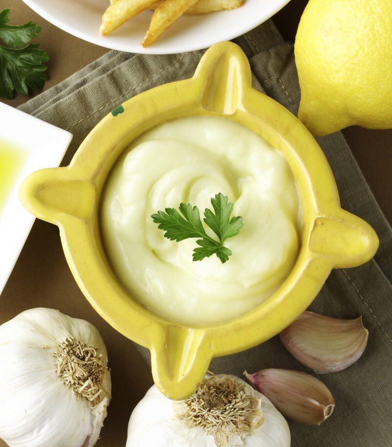 Alioli vegano con zumo de limón