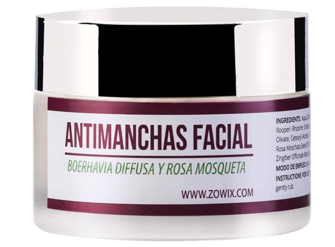 Crema antimanchas facial de ZOWIX
