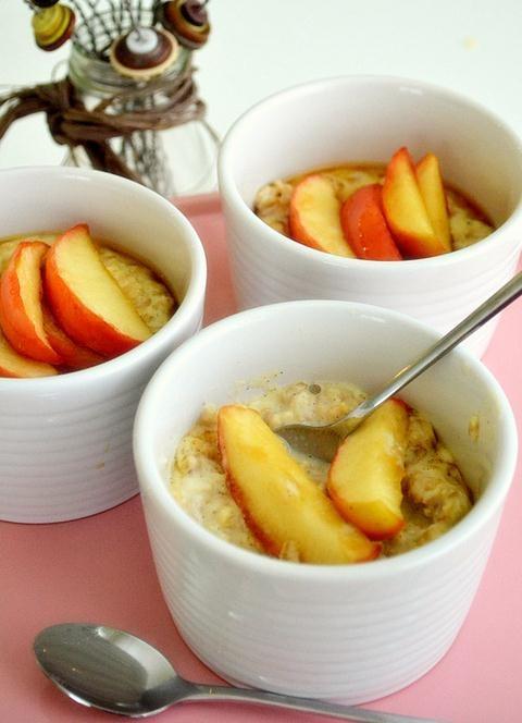 Receta de avena con manzana y miel