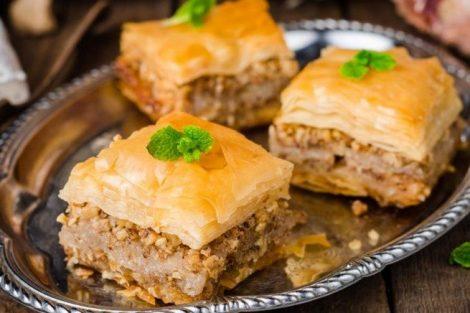 Baklava: receta de pastel turco con nueces, almendras y pistachos
