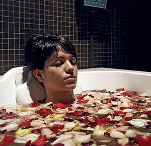 Los baños de aguas termales, beneficiosos para la salud