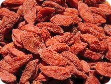 Información nutricional de las bayas del Goji