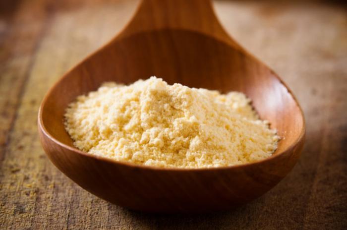 Harina de arroz y maiz para la piel