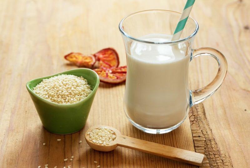 Propiedades de la leche de sesamo