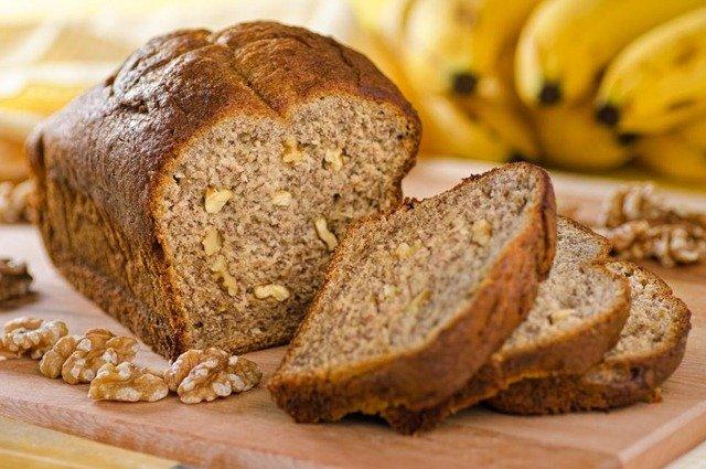 Receta de pan de plátano y nueces