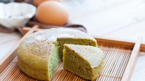 Receta de bizcocho de té verde japonés