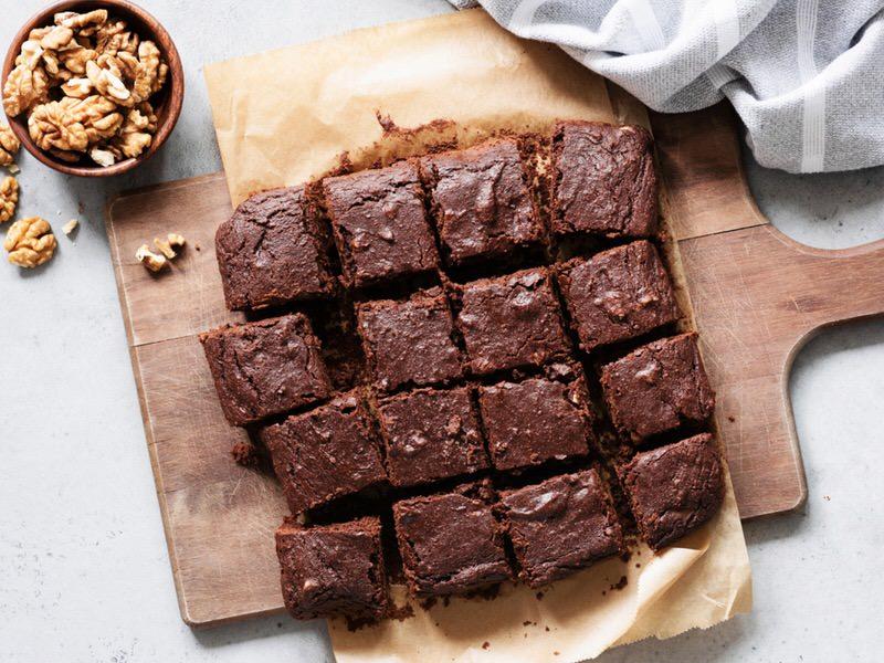 Brownie de chocolate negro y nueces