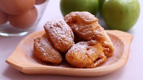 Cómo hacer buñuelos de manzana