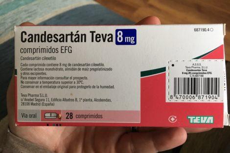 Candesartán Teva: qué es, para qué sirve y efectos secundarios