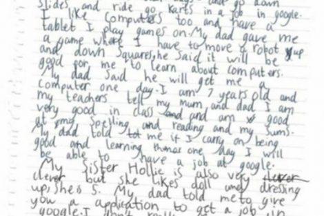 Cuando la voluntad mueve montañas: una niña pidió un trabajo a Google y le respondió Sundar Pinchai