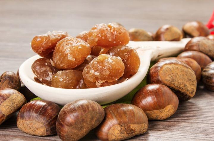 Receta de castañas en almibar