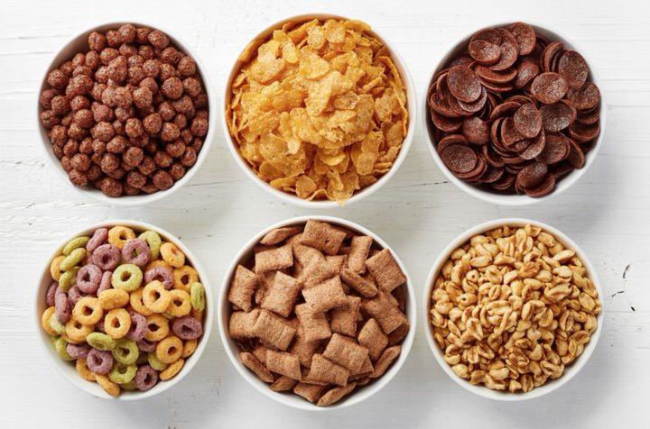Cereales e desayuno no saludables