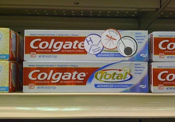 La pasta de dientes Colgate Total contiene un químico supuestamente cancerígeno