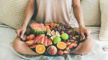 Comer fruta entre horas