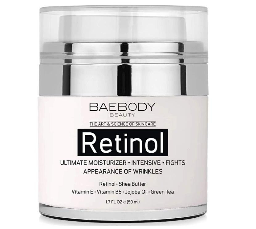 Crema hidratante con retinol y aceite de jojoba de Baebody
