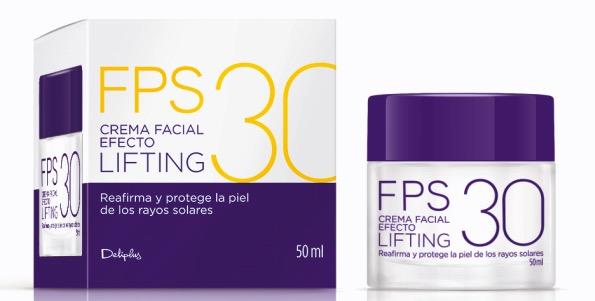Crema facial efecto lifting FPS30 de Deliplus