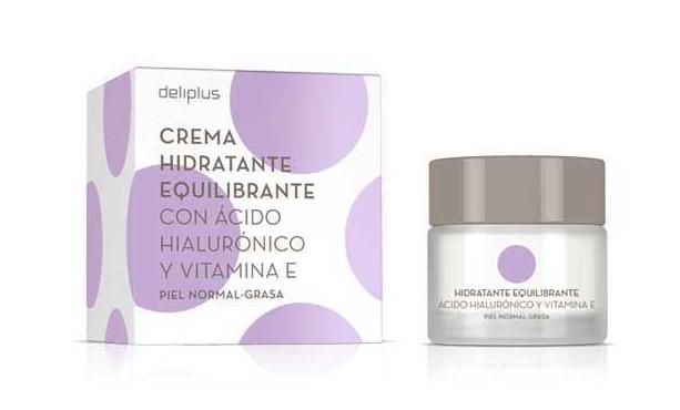 Crema hidratante equilibrante con ácido hialurónico y vitamina E de Deliplus