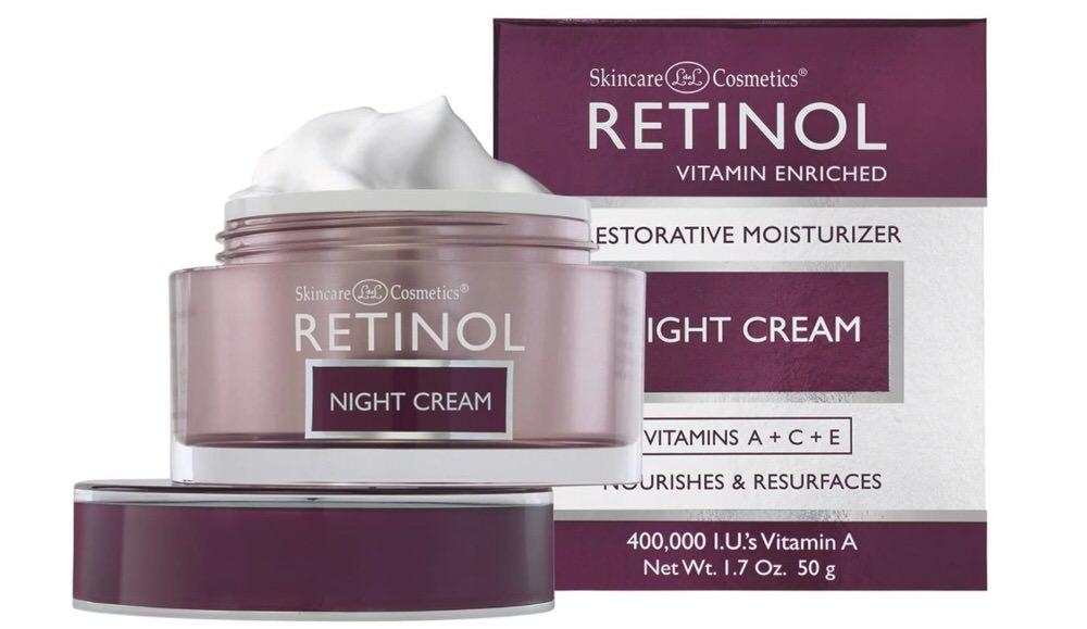 Crema de noche de con retinol de LdeL Cosmetics