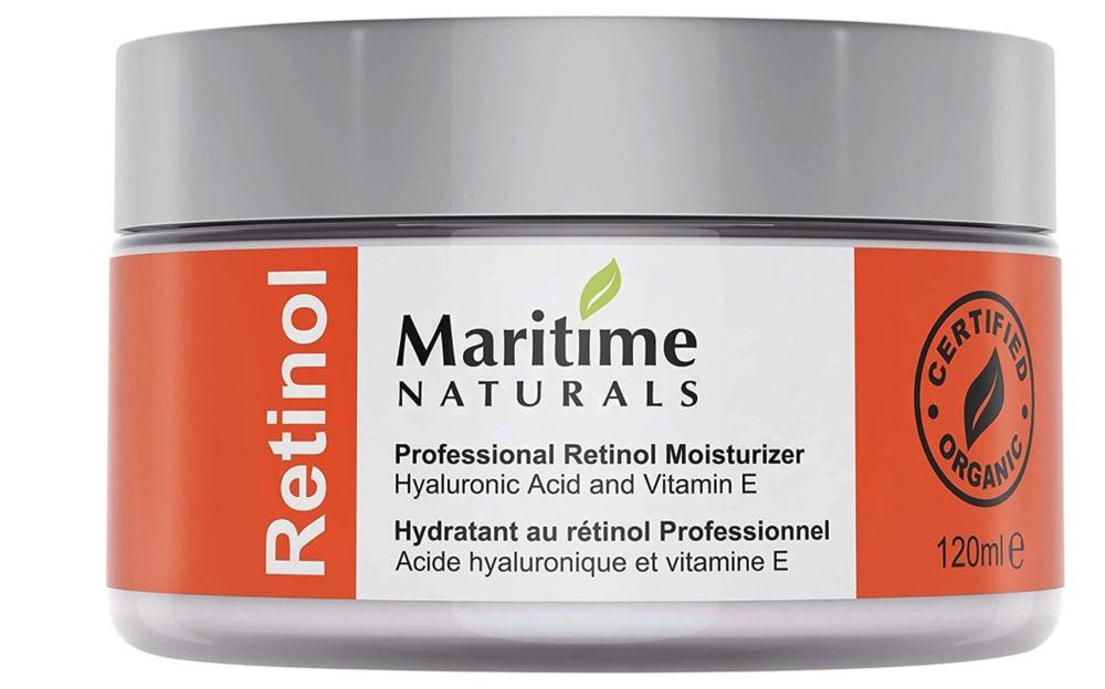 Crema hidratante con retinol y ácido hialurónico de Maritime Naturals