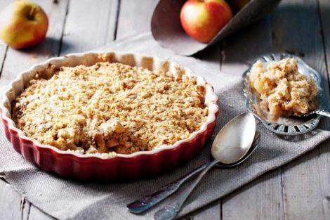 Cómo hacer crumble de manzana tradicional (Apple Crumble)