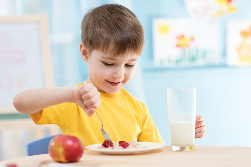 El desayuno para nuestros hijos