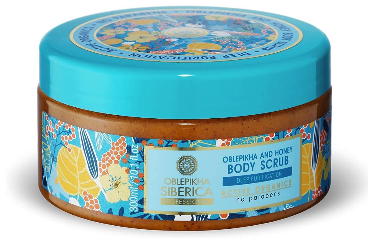 Exfoliante para el cuerpo de Oblepikha y miel