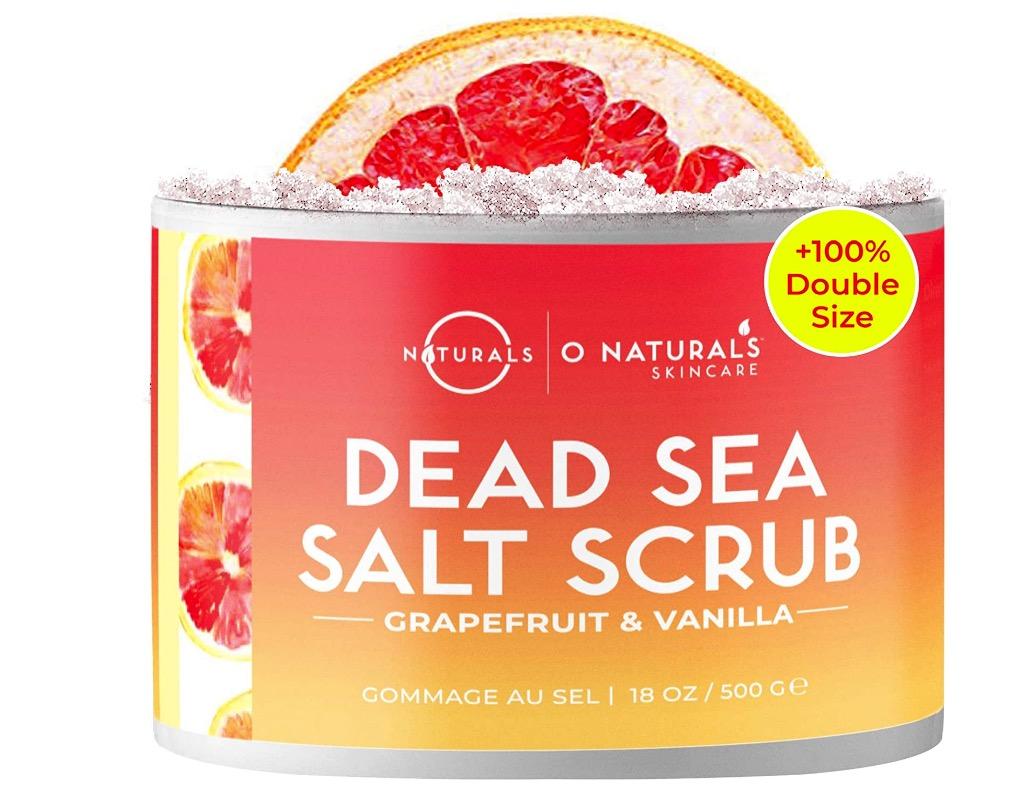 Exfoliante natural con sales del mar muerto y pomelo