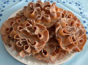Flores de sartén: maravillosa receta de Carnavales