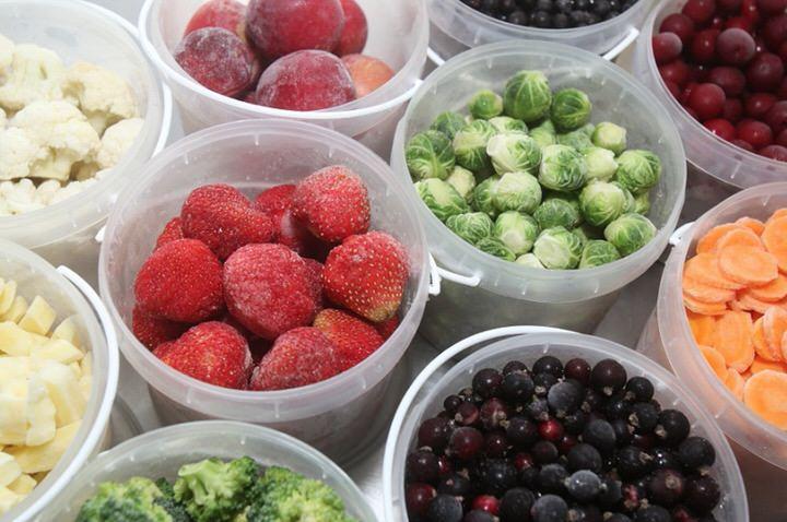 Verduras y frutas congeladas