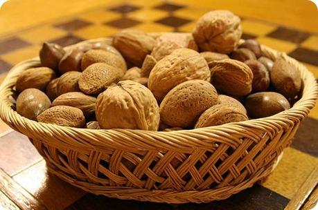 Frutos secos sanos y saludables