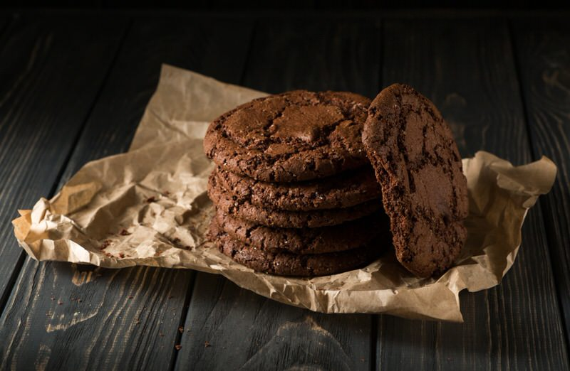 Receta de galletas con doble chocolate