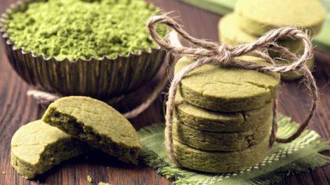 Galletas de te verde matcha