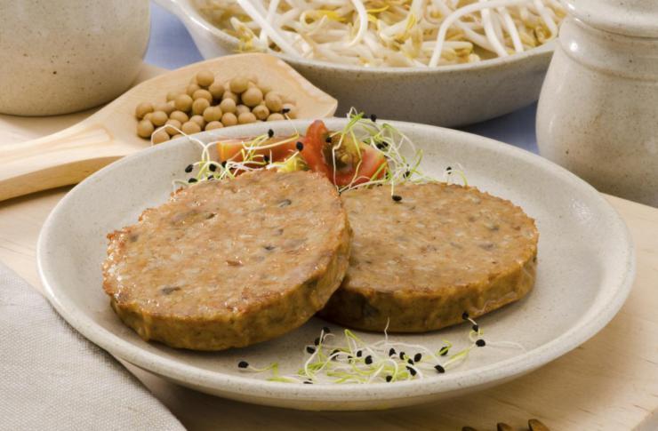 Hamburguesas de tofu con chia