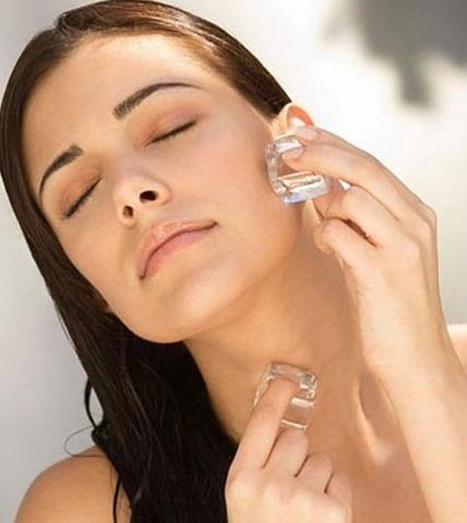 Cubitos de hielo para la piel