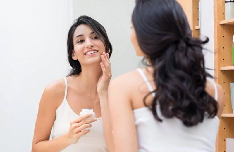 Humectando la piel