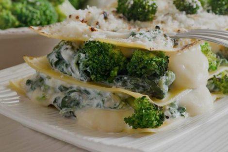 Lasaña vegetariana de brócoli: receta paso a paso