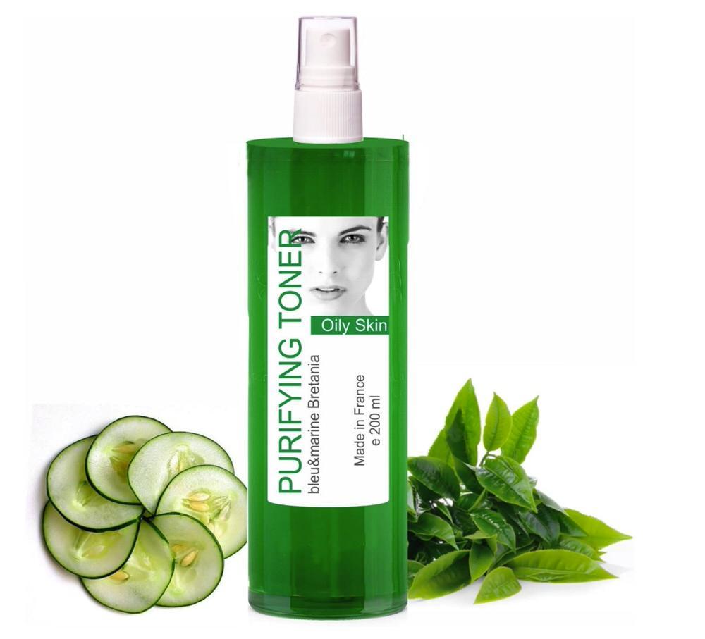 Loción tónica para piel grasa y con acné de té verde