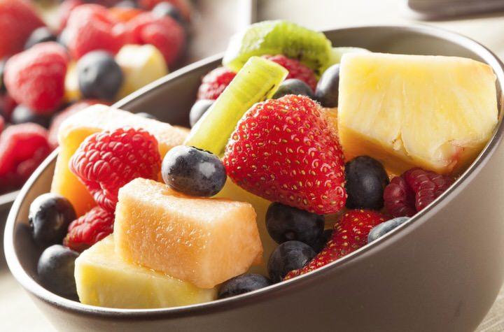 Mezcla adecuada de frutas