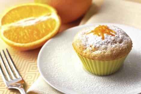 Muffins de naranja y almendra: receta deliciosa