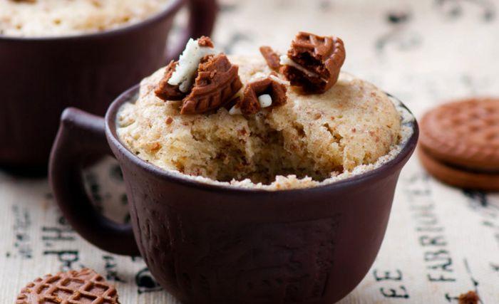 Mug Cake de galletas María