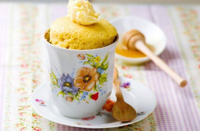 Bizcocho rápido Mug Cake