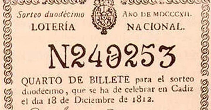 Origen de la loteria de Navidad