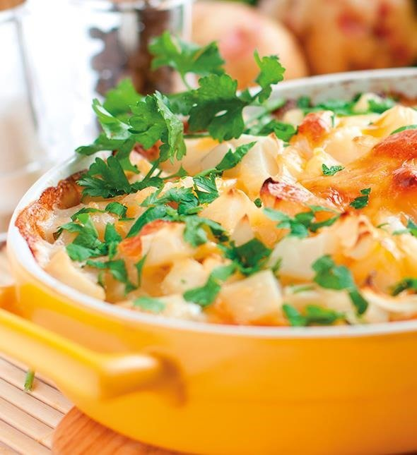 Pastel de verduras al microondas