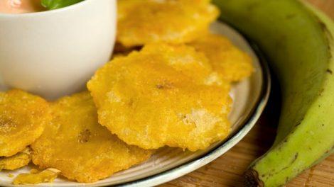 Receta de platanos verdes fritos