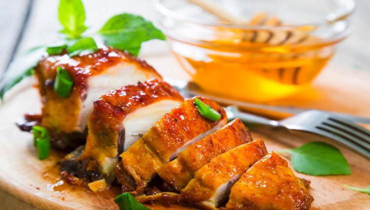 Pollo en salsa de miel
