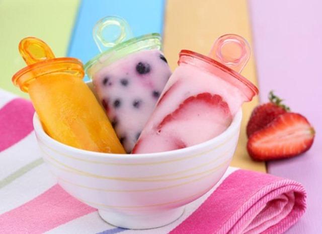 Polos de frutas naturales