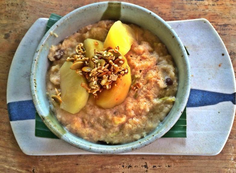 Receta de porridge de avena con frutas