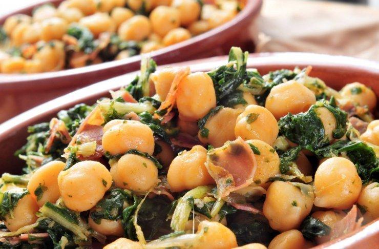 Receta de potaje de espinacas y garbanzos